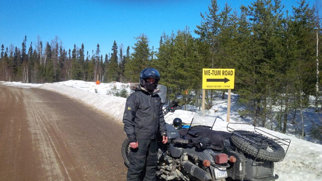 Le Wetum Road, vers Moose Factory. Photo : Mario Villeneuve
